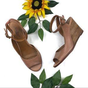 Lucky Brand Juanitah Platform Wedge Sandals Heels